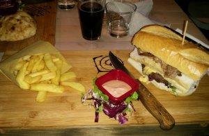 hamburger ostia doppio strato antico traiano